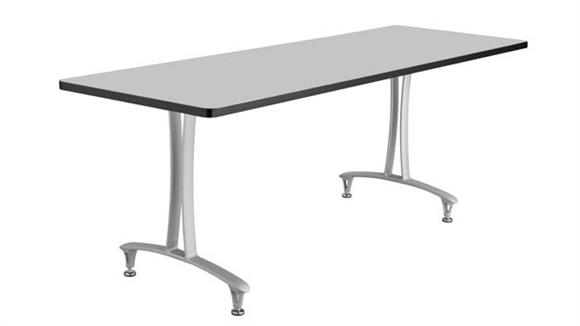 """Training Tables Safco Office Furniture 60"""" x 24"""" Mobile Table with Glides"""