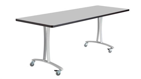 """Training Tables Safco Office Furniture 72"""" x 24"""" Mobile Table with Casters"""