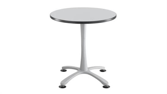 """Cafeteria Tables Safco Office Furniture 30"""" Round, X Base, Sitting Height Table"""