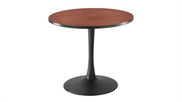 """Cafeteria Tables Safco Office Furniture 36"""" Round, Trumpet Base Sitting Height"""