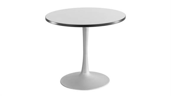"""Cafeteria Tables Safco Office Furniture 36"""" Round, Trumpet Base, Sitting Height Table"""