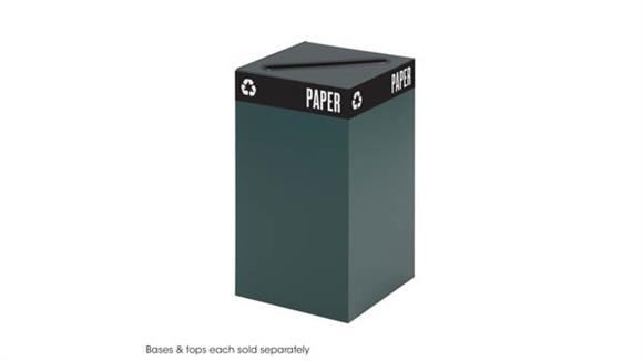 """Waste Baskets Safco Office Furniture 26"""" High Waste Receptacle for Recycling"""