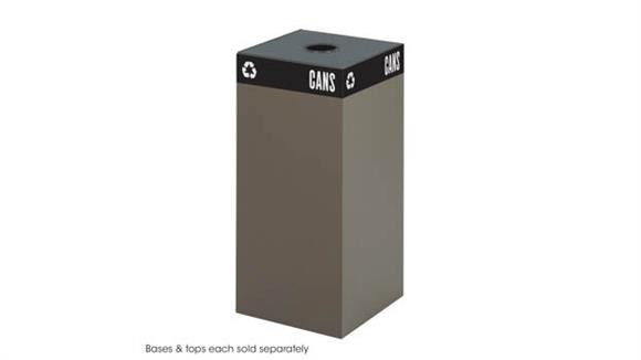 Waste Baskets Safco Office Furniture Public Square® 31-Gallon Recycling Can Base