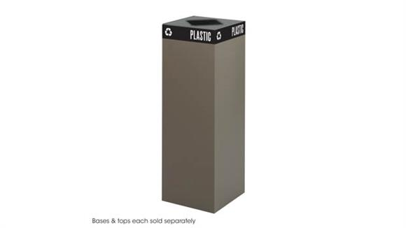 Waste Baskets Safco Office Furniture Public Square® 42-Gallon Recycling Can Base