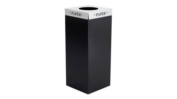 "Waste Baskets Safco Office Furniture Square-Fecta™ ""Paper"" Lid"