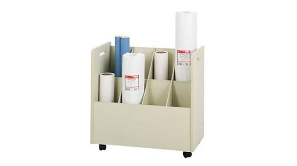Media Storage Safco Office Furniture Mobile Roll File, 8 Compartment