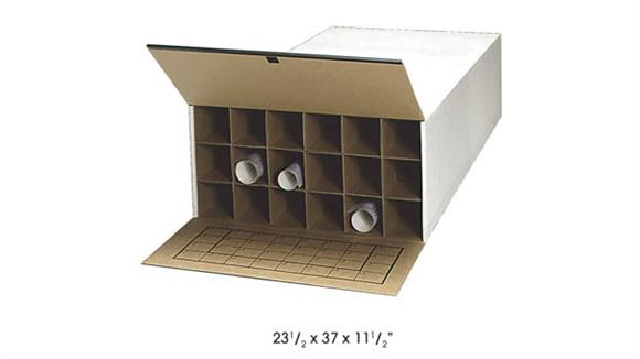"""Media Storage Safco Office Furniture 37"""" D Tube-Stor KD Roll File, 18 Tube (Qty. 2)"""