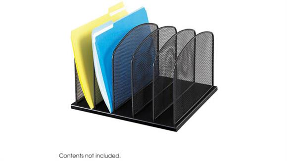 Desk Organizers Safco Office Furniture Onyx™ 5 Upright Sections