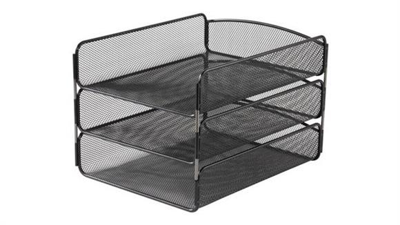 Desk Organizers Safco Office Furniture Onyx™ Triple Tray