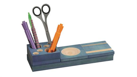 Desk Organizers Safco Office Furniture Splash™ Multi-Colored Wood Desk Set