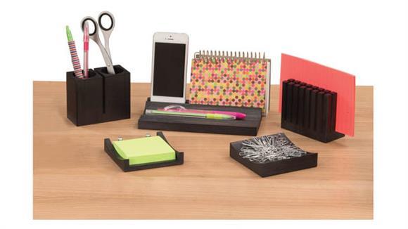 Desk Organizers Safco Office Furniture Wood Desk Organizer Set