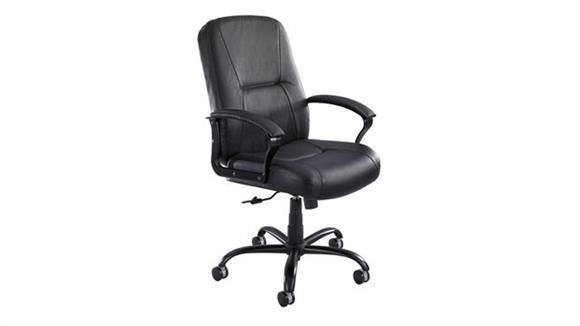 Big & Tall Safco Office Furniture High Back Big and Tall Leather Chair