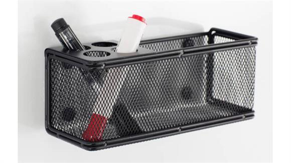 Desk Organizers Safco Office Furniture Onyx™ Mesh Marker Organizer with Basket