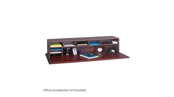 "Desk Organizers Safco Office Furniture 58""W Low Profile Desk Top Organizer"