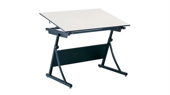 """Drafting Tables Safco Office Furniture Drafting Table, 60"""" x 37 1/2"""" with PlanMaster Height-Adjustable Base"""