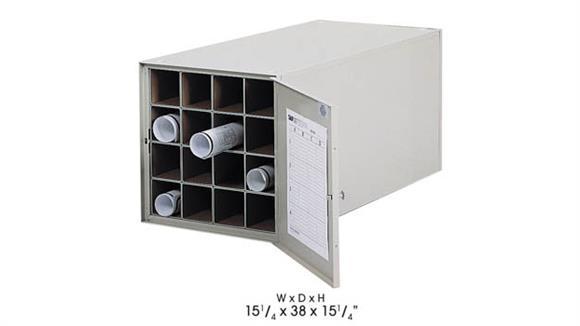 "Media Storage Safco Office Furniture 38"" D Steel Roll File, 16 Tube"