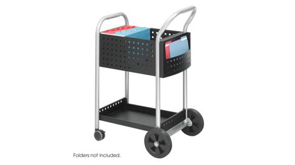 """Mobile File Cabinets Safco Office Furniture Mail Cart, 20""""D"""