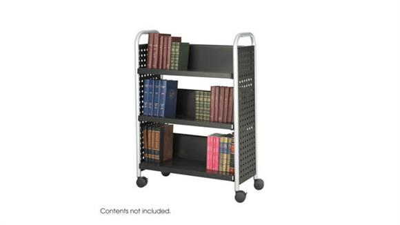 Book & Library Carts Safco Office Furniture Single-Sided Book Cart