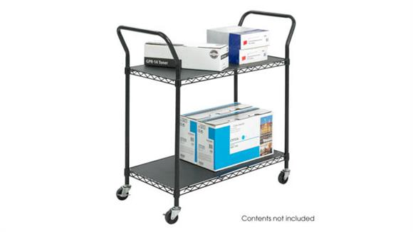 Utility Carts Safco Office Furniture Wire Utility Cart - 2 Shelves