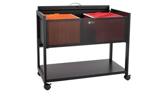 Mobile File Cabinets Safco Office Furniture Steel Mobile File w/Locking Top