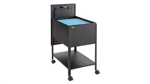 Mobile File Cabinets Safco Office Furniture Extra Deep Mobile Tub File with Lock, Legal Size