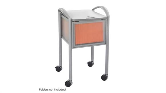 Mobile File Cabinets Safco Office Furniture Mobile File with Locking Top