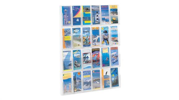 Magazine & Literature Storage Safco Office Furniture 24 Pamphlet Display