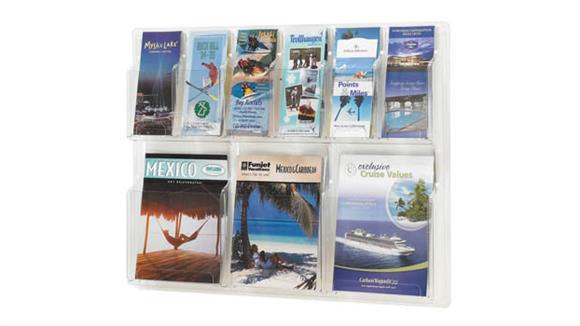 Magazine & Literature Storage Safco Office Furniture 3 Magazine and 6 Pamphlet Display