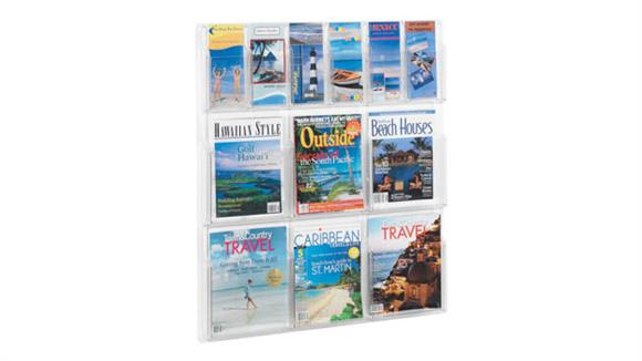 Magazine & Literature Storage Safco Office Furniture 6 Pamphlet and 6 Magazine Display