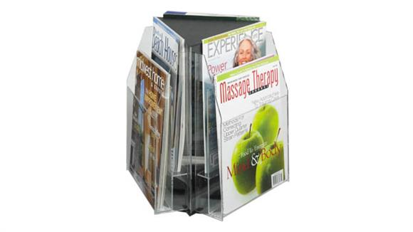 Magazine & Literature Storage Safco Office Furniture 6 Magazine Triangle Table Top Display