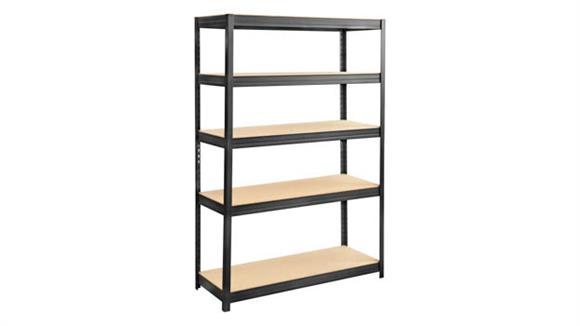 "Shelving Safco Office Furniture Boltless Steel and Particleboard Shelving 48"" x 18"""