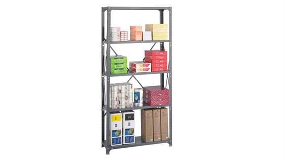 "Shelving Safco Office Furniture 36"" W x 12"" D x 75""H Commercial 5 Shelf Unit"