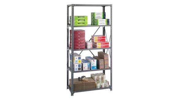 "Shelving Safco Office Furniture 36"" W x 18"" D x 75""H Commercial 5 Shelf Unit"