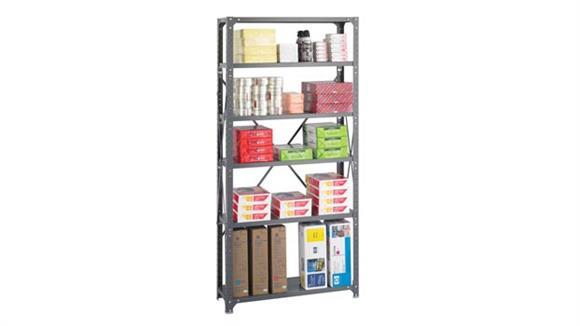 "Shelving Safco Office Furniture 36"" W x 12"" D x 75""H Commercial 6 Shelf Unit"