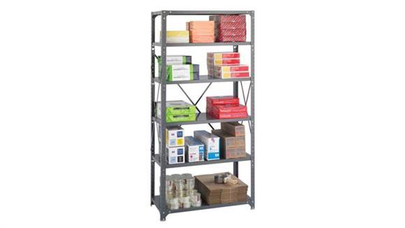 "Shelving Safco Office Furniture 36"" W x 18"" D x 75""H Commercial 6 Shelf Unit"