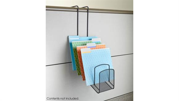 Desk Organizers Safco Office Furniture Onyx™ Panel Organizer Waterfall 5 Pocket