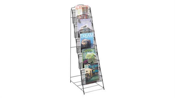 Magazine & Literature Storage Safco Office Furniture Onyx™ Floor Rack 5 Pocket