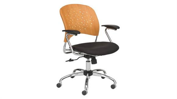 Office Chairs Safco Office Furniture Task Chair Round Plastic Wood Back