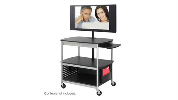 AV Carts Safco Office Furniture Open Flat Panel Multimedia Cart