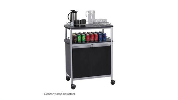 Hospitality Carts Safco Office Furniture Mobile Beverage Cart