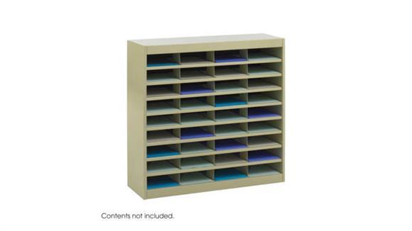 Magazine & Literature Storage Safco Office Furniture Steel 36 Compartment Letter Size Literature Organizer