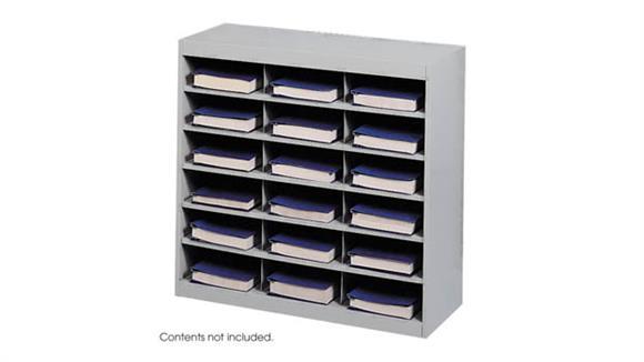 Magazine & Literature Storage Safco Office Furniture Steel 18 Compartment Project Organizer