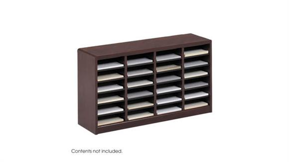 Magazine & Literature Storage Safco Office Furniture 24 Compartment Literature Organizer