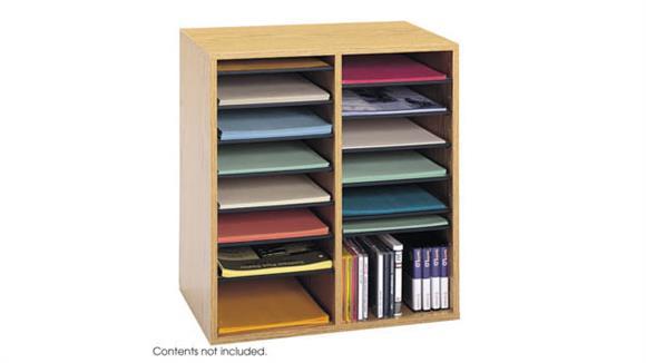 Magazine & Literature Storage Safco Office Furniture Wood 16 Compartment Literature Organizers