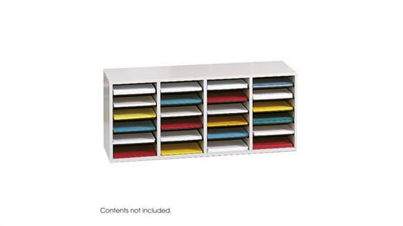 Magazine & Literature Storage Safco Office Furniture Wood 24 Compartment Literature Organizer