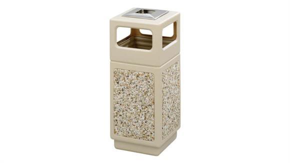 Waste Baskets Safco Office Furniture Canmeleon™ Aggregate Panel, Ash Urn/Side Open, 15 Gallon