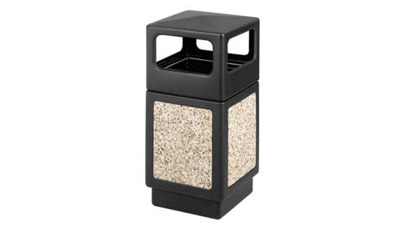 Waste Baskets Safco Office Furniture 38 Gallon Side Open Waste Receptacle