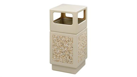 Waste Baskets Safco Office Furniture Canmeleon™ Aggregate Panel, Side Open, 38 Gallon