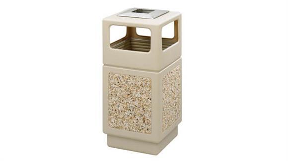 Waste Baskets Safco Office Furniture Canmeleon™ Aggregate Panel, Ash Urn/Side Open, 38 Gallon