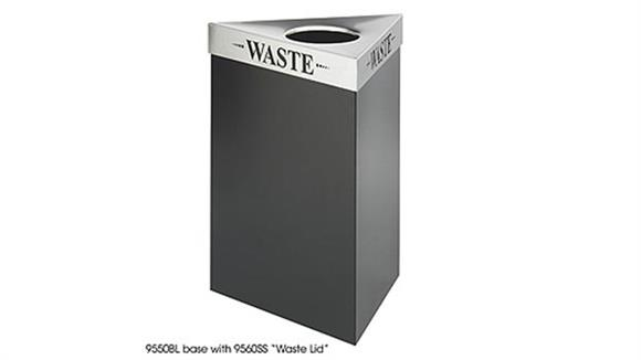 Waste Baskets Safco Office Furniture 15 Gallon Waste Receptacle